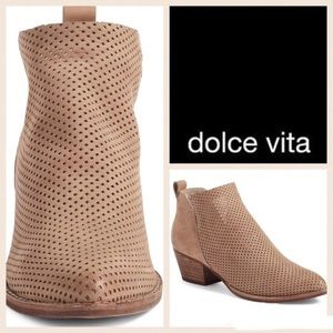 NWOT 'Sonya' Suede perforated ankle booties by DV